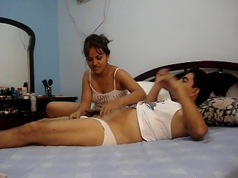 Punjabi couple in bedroom hot wife giving blowjob and hardcore fuck