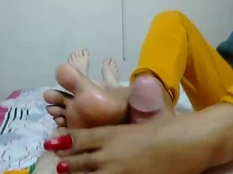 Indian Wife Fantasy Footjob